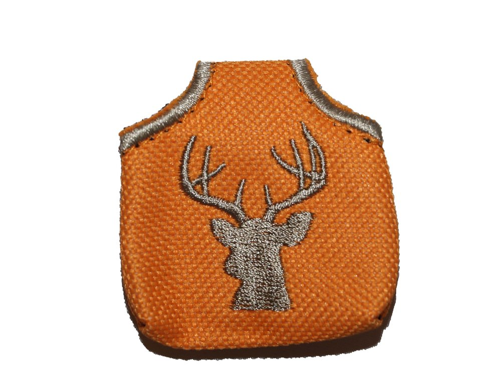 ORANGE DEER PEACE TAG -