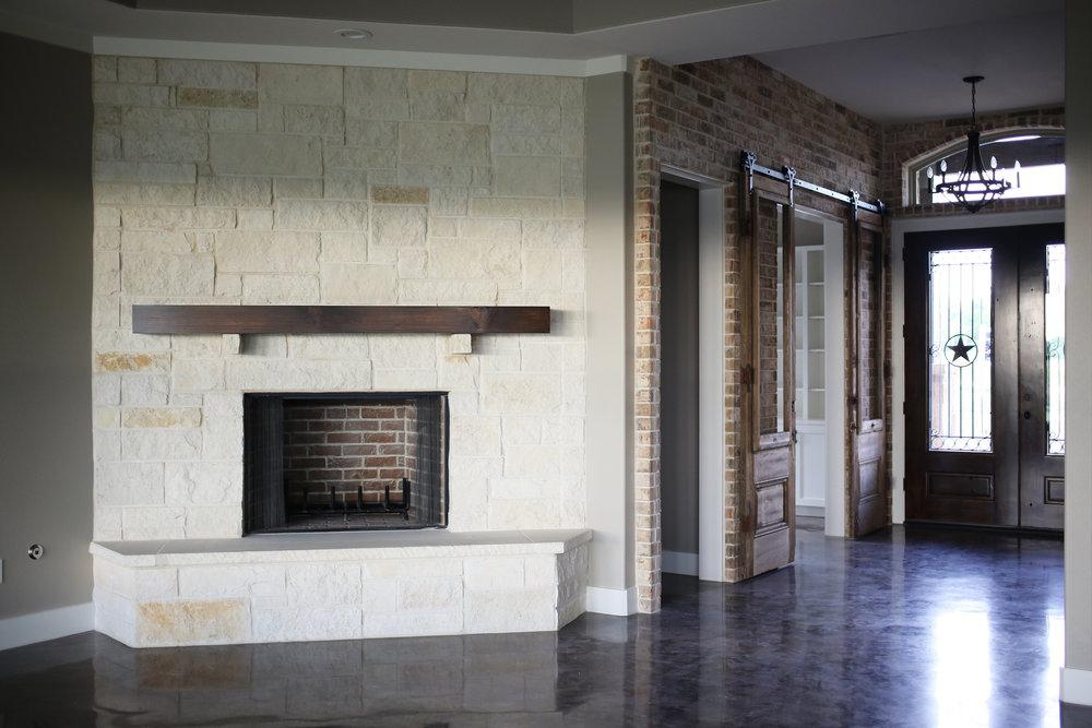 White Chop Fireplace