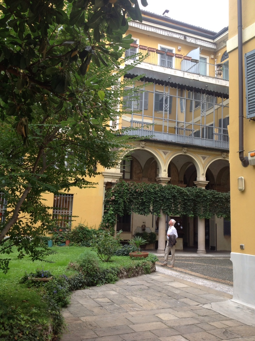 Milan has the most beautiful backyards