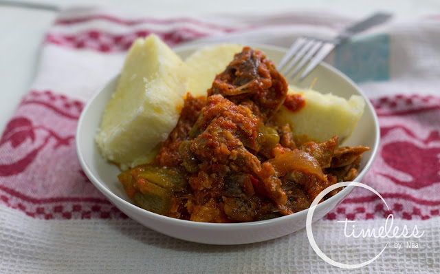 Yam with Egg Koobi Stew