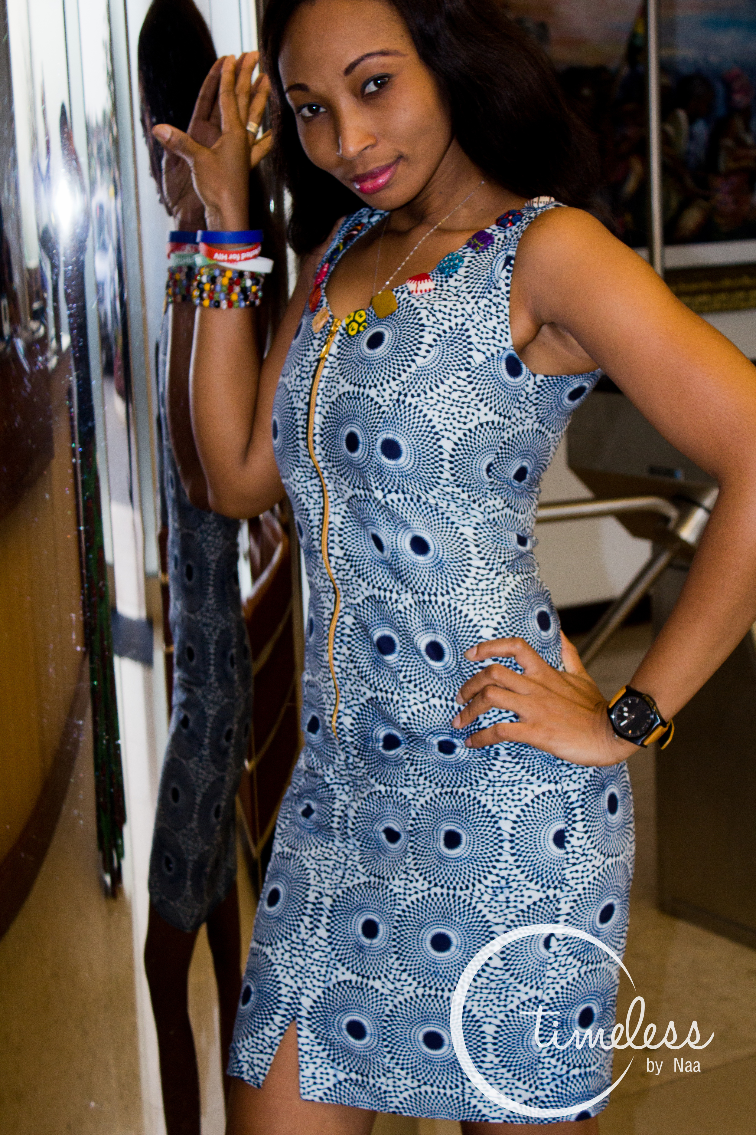 Black& White African Print Dress