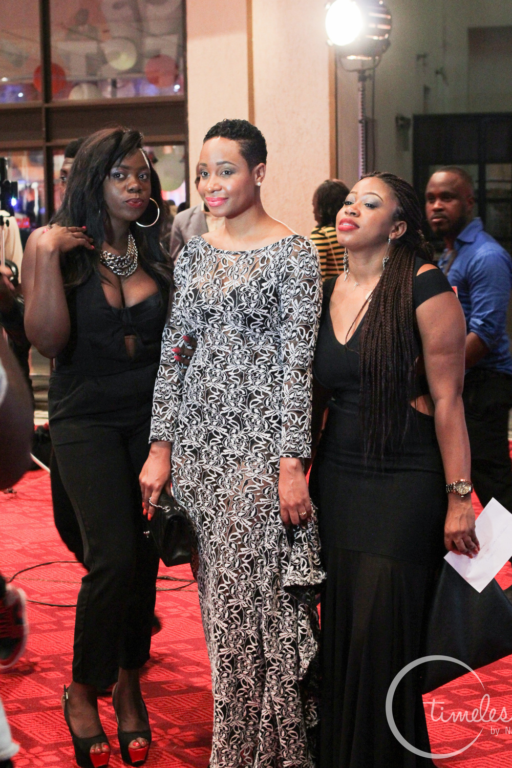 Pokello Nare with fans.