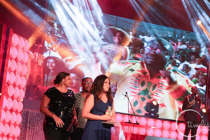 mystery lady (Shatta's girl?) with Shatta Wale's award