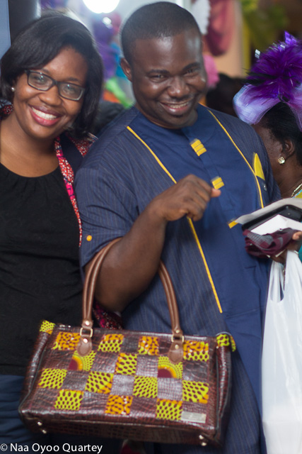 Kabutey with a bag by MSimps posing with Freda Adu