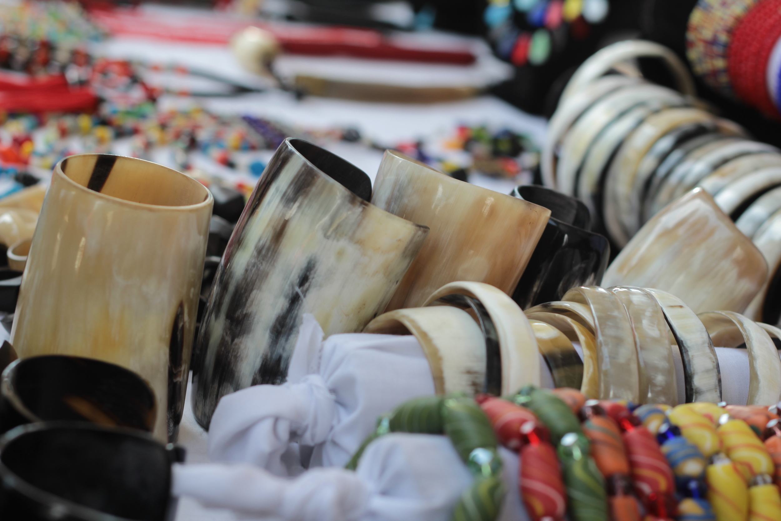 Accessories made from cow horn