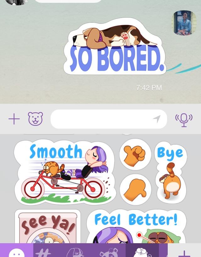 Stickers on Viber