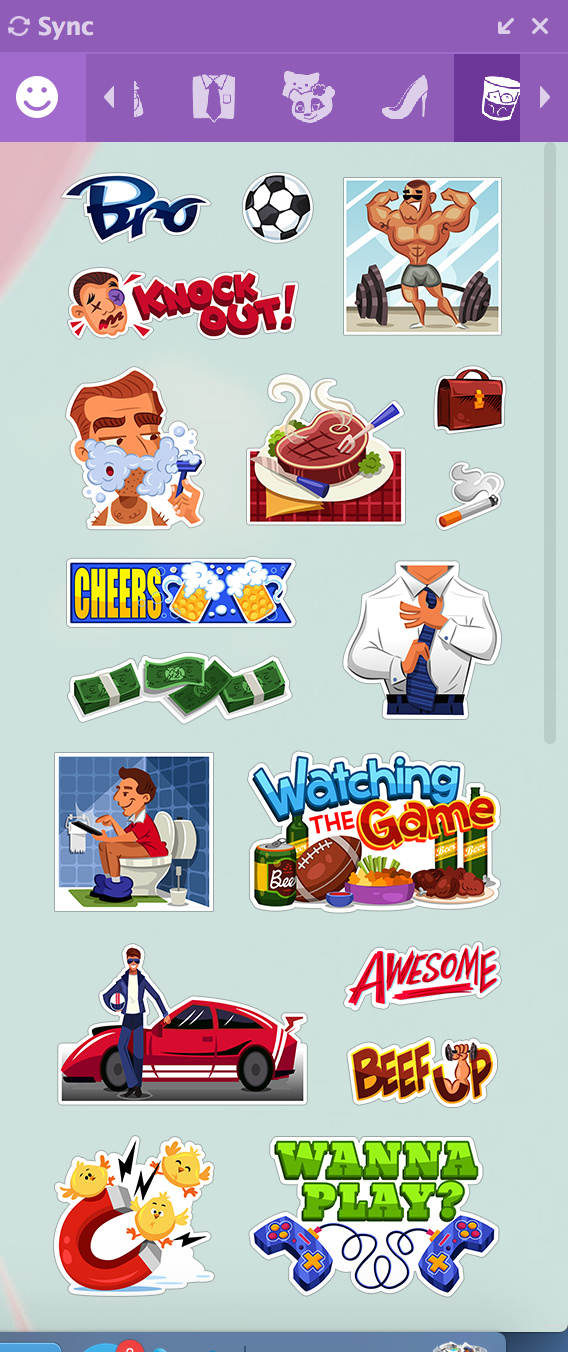 Stickers for the guys