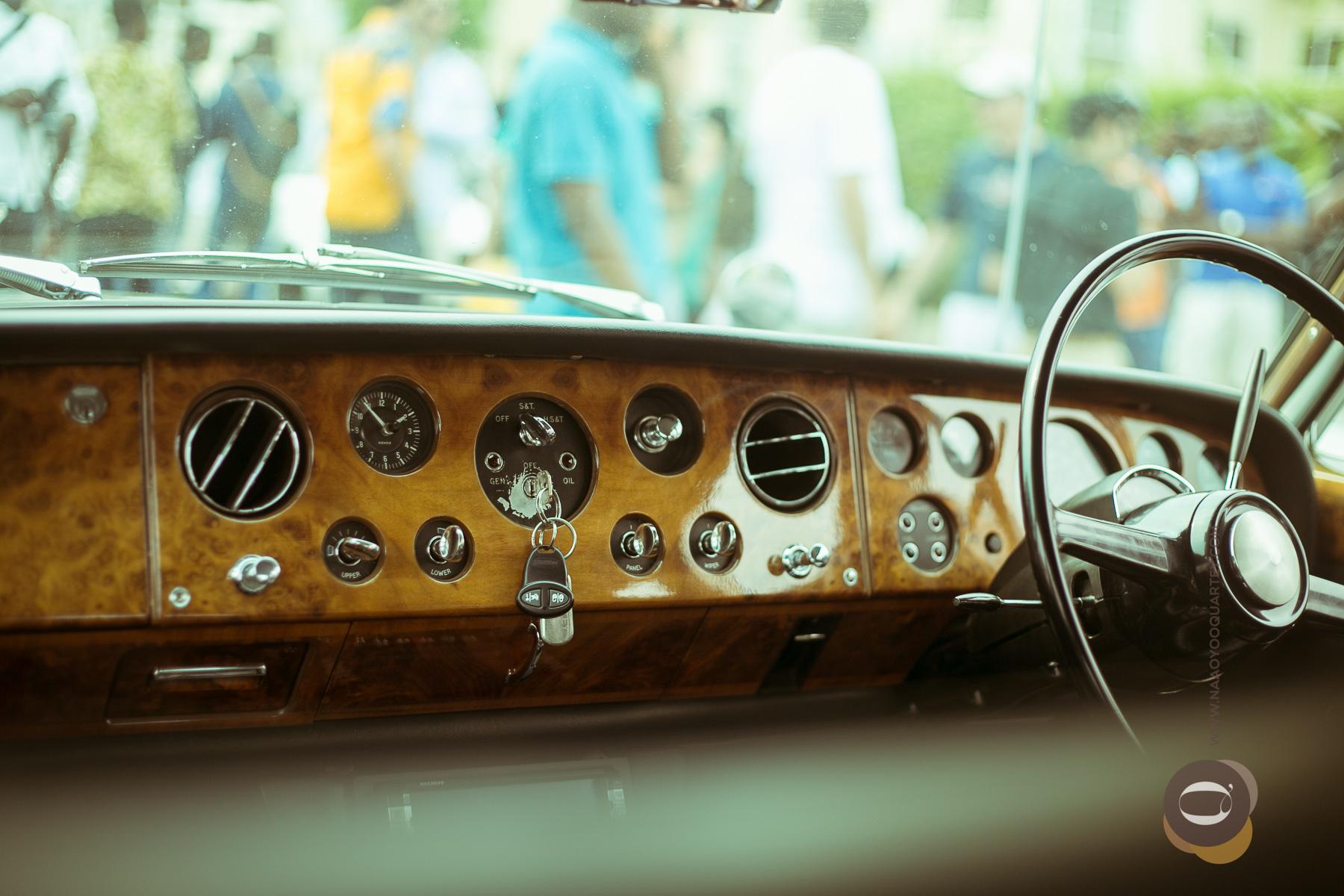 Interior of Rolls Royce Silver Shadow