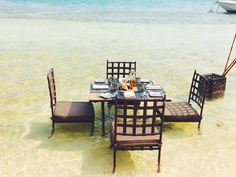 This is not a mistake. Its a perfect Dinner in the sea.