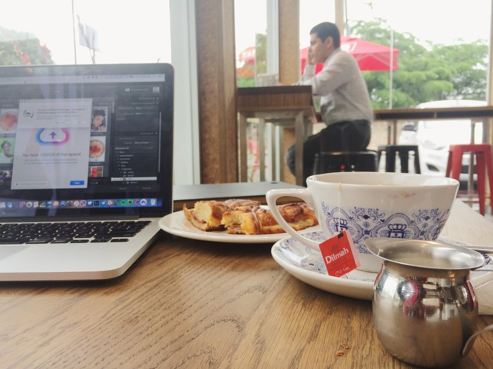 work and chai.