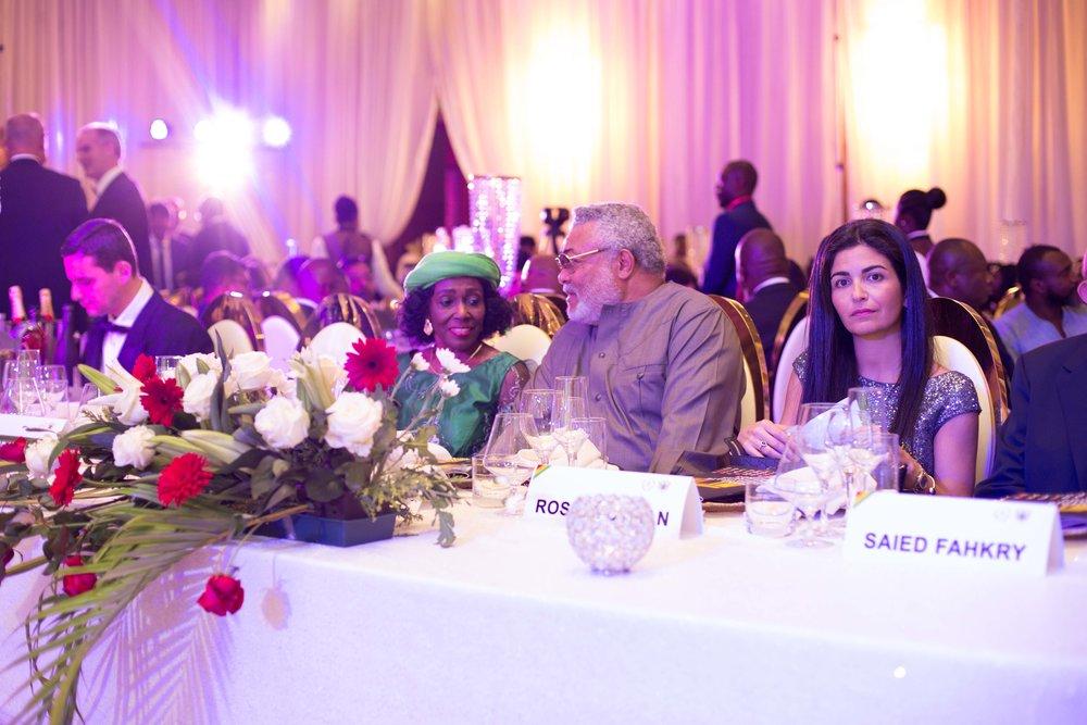 Former President Jerry John Rawlings & Wife Nana Konadu Agyeman Rawlings