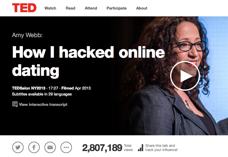 My TED Talk about hacking data, algorithms and yourself.