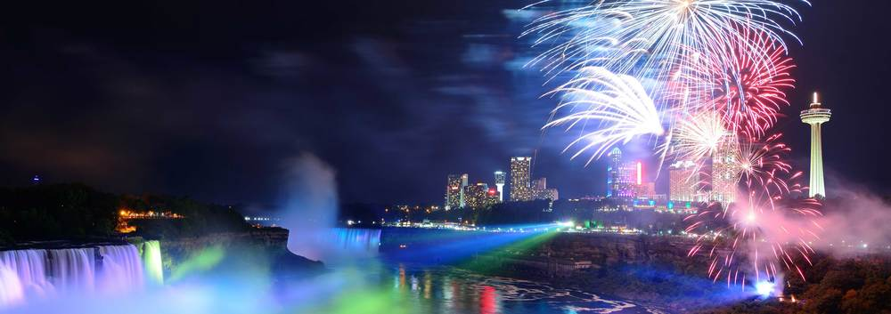 There are fireworks and then there are Fireworks at Niagara Falls      (photo courtesy of Winter Festival of Lights)