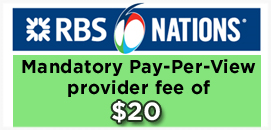 RBS 6 Nations PPV Provider Fee Lundys Lane
