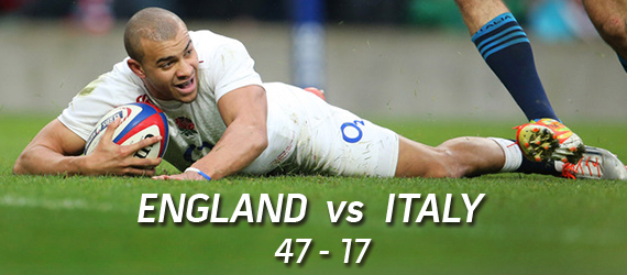 England vs Italy rugby blowout 2015 RBS 6 nations