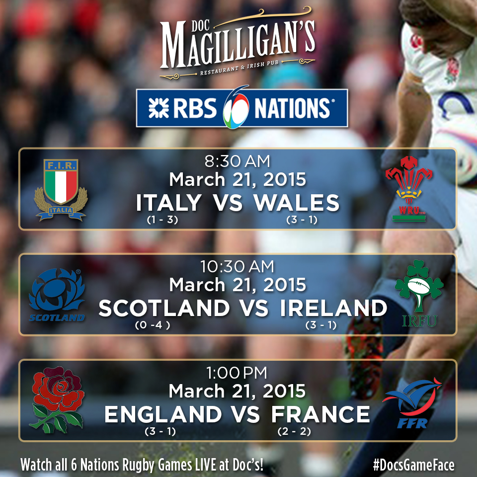 Round 5 of the RBS 6 Nations Championship