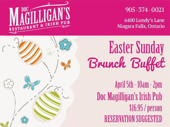 Brunch Buffet Easter Sunday Doc Magilligans Niagara Falls