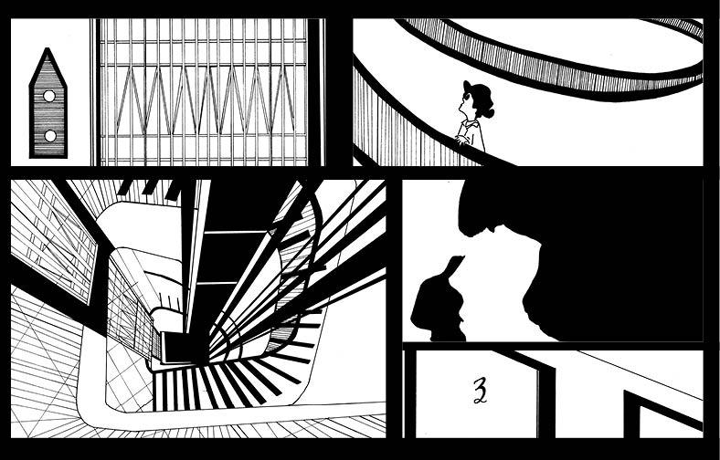 Film Noir inspired comic layout