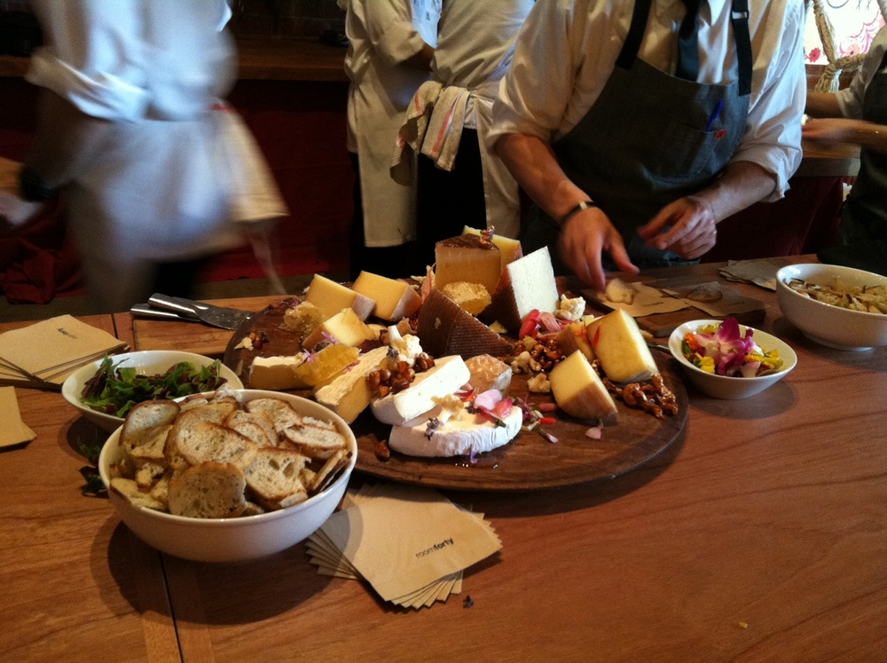 Delicious cheese platter provided by  Room Forty