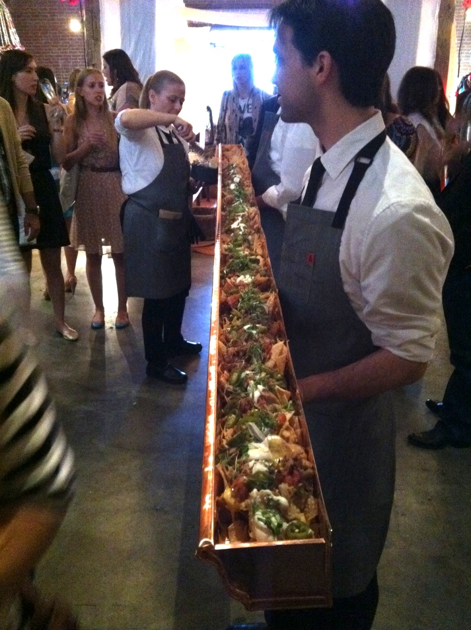 Such a unique way to serve nachos! Good job Room Forty!