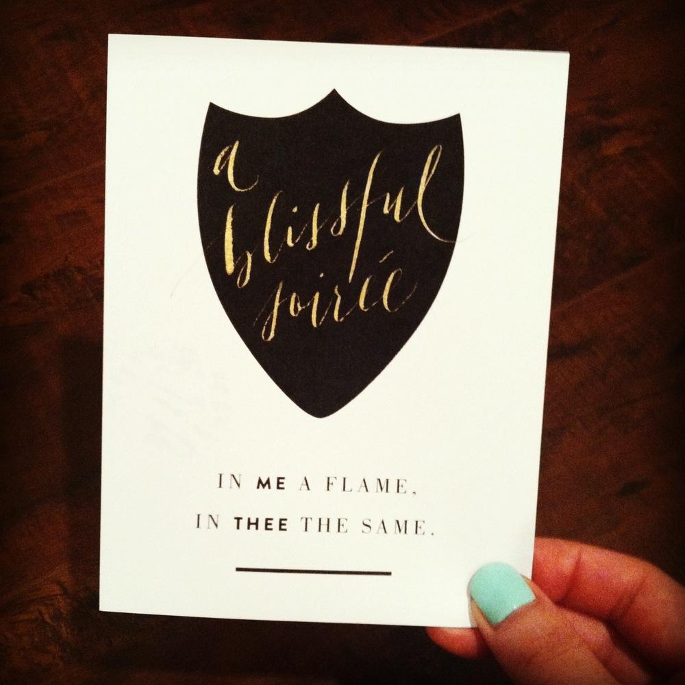 Thank you  Meghan Sadler  and  Grey Like Weddings  for this custom calligraphy art!