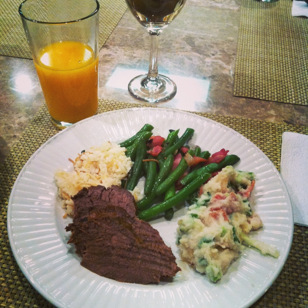 We made a detour to Fresno Thursday night, to visit some family. My aunt had this delicious dinner waiting for us! She is amazing <3