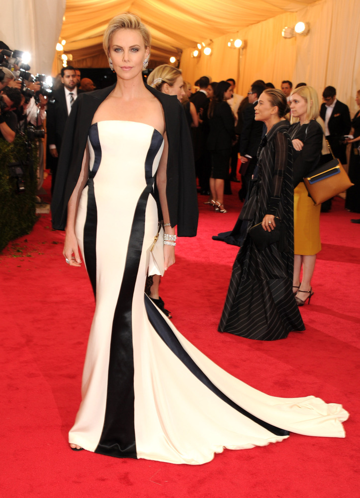 Charlize Theron looks flawless in Dior.