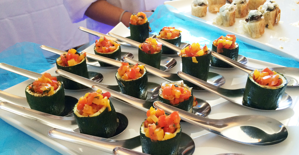 Who doesn't love veggies? Zucchini bites from  Corazon's Custom Catering