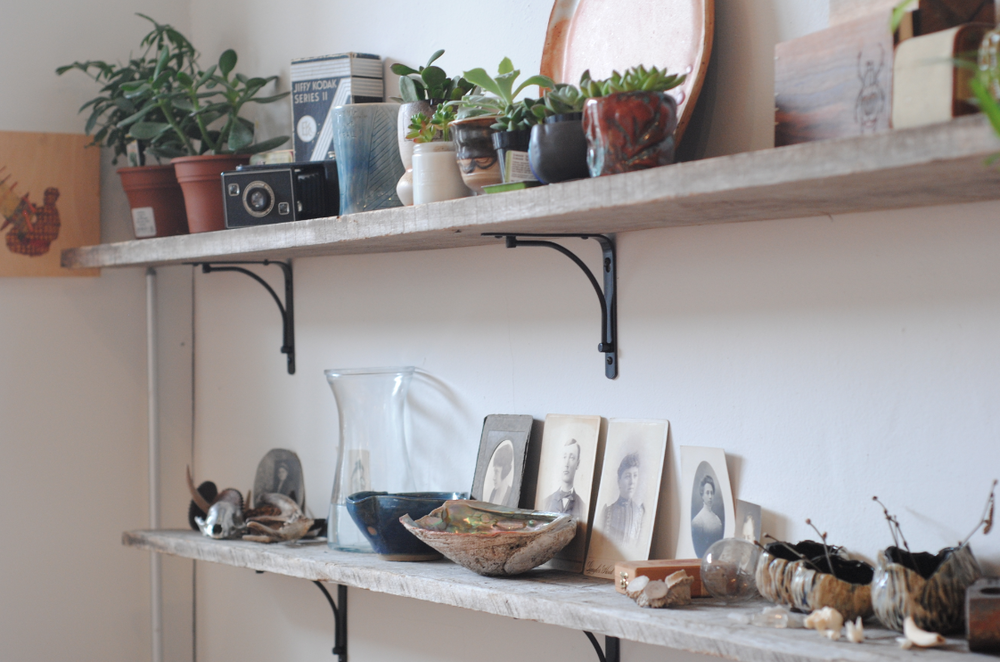 A shot of the shelves of inspiration in my studio!