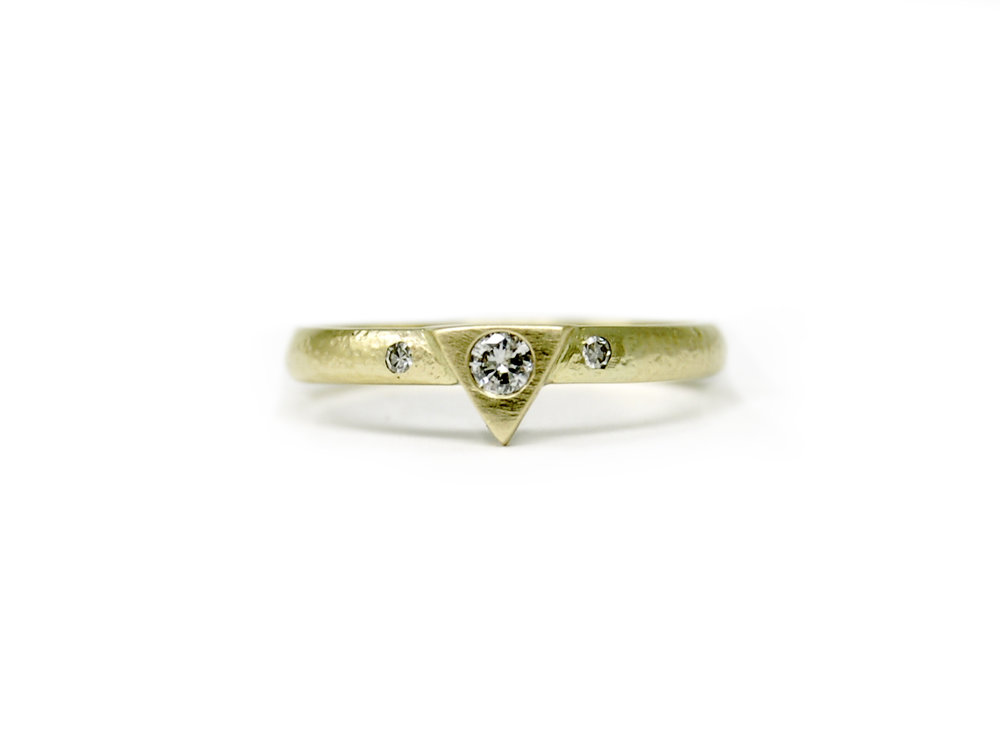 Stunning modern stacking ring featuring heirloom diamonds