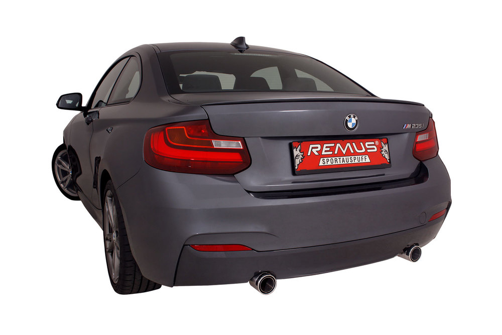 BMW F22 with Remus Dual Tipped Sport Exhaust with integrated valve control