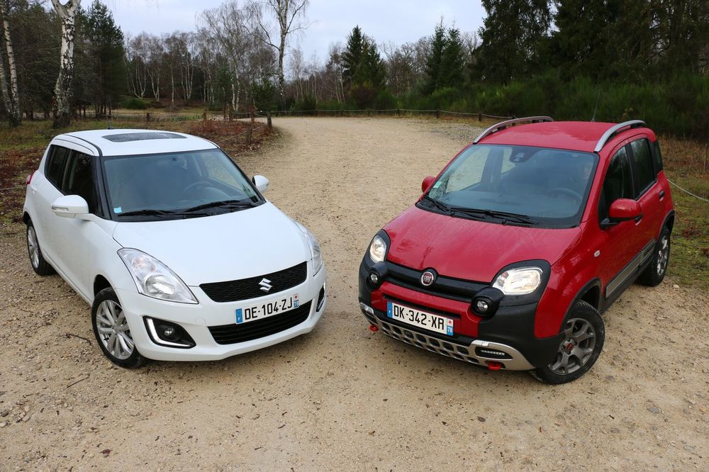 fiat panda cross vs suzuki swift 4x4 remus performance. Black Bedroom Furniture Sets. Home Design Ideas