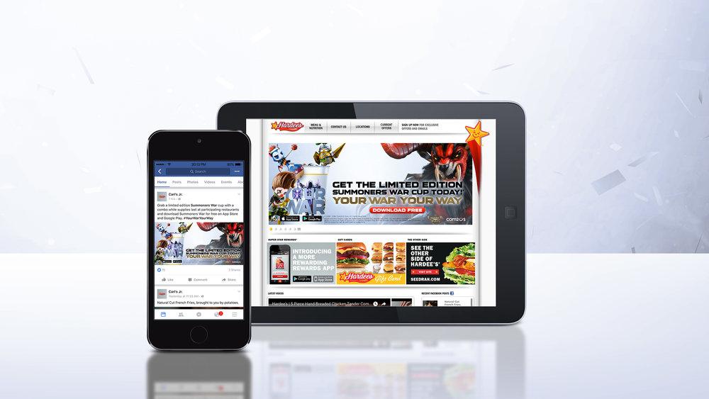 Carl's Jr. / Hardee's Homepage Present