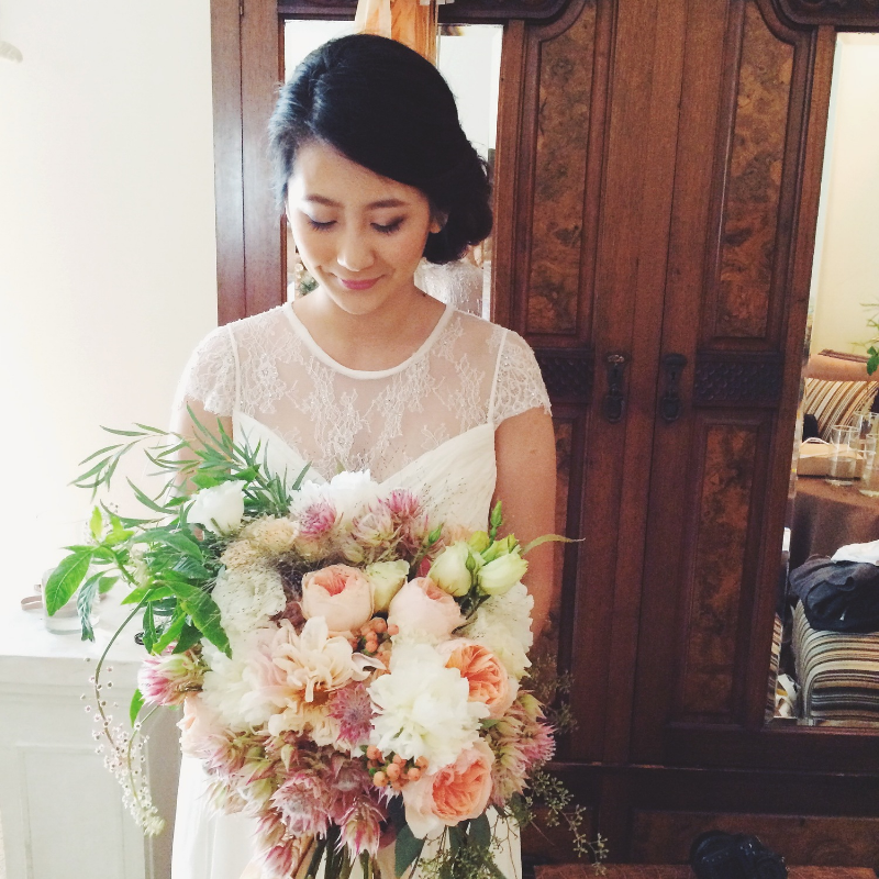 Bride Sunny Kim of  Maylilies