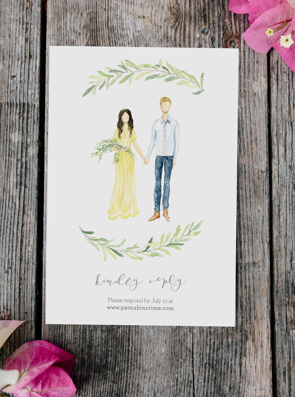 My Wedding Invitations & DIY decor — Chasing Linen | Illustration ...
