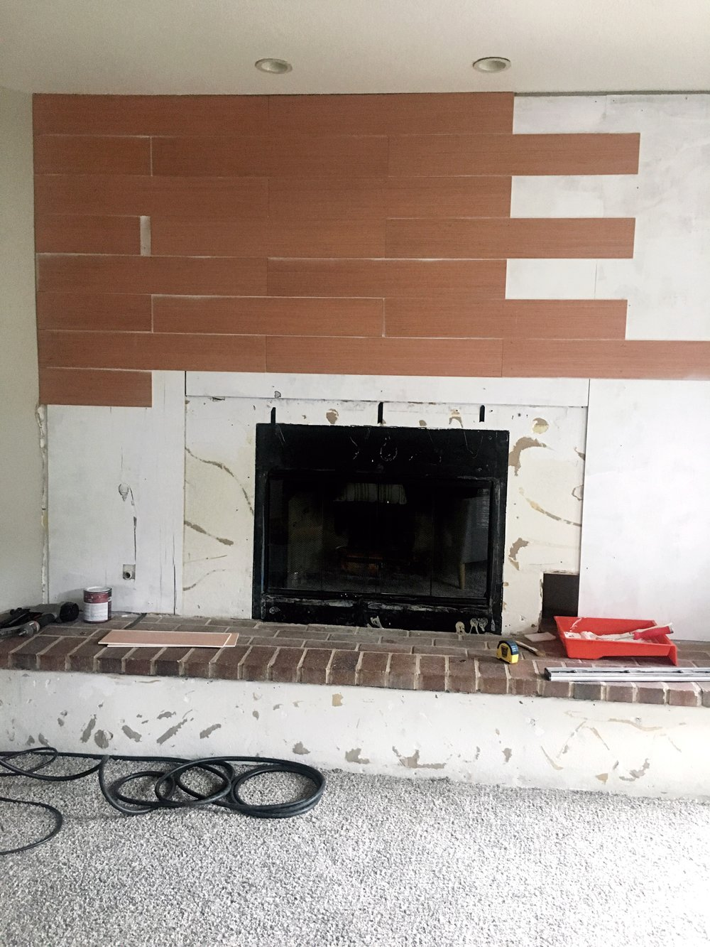 Completely new Our DIY Fireplace (before & after) — Chasing Linen | Illustration  VV62