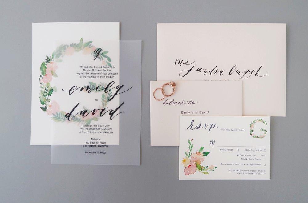 Monogram Vellum Wedding Invitation Suite Chasing Linen