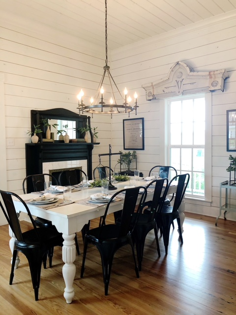 magnolia house shiplap dining table