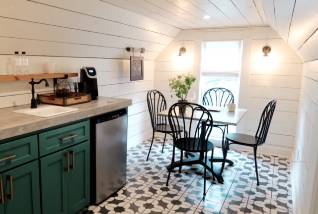 magnolia house shiplap coffee bar