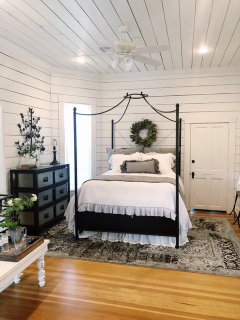 magnolia house bed shiplap