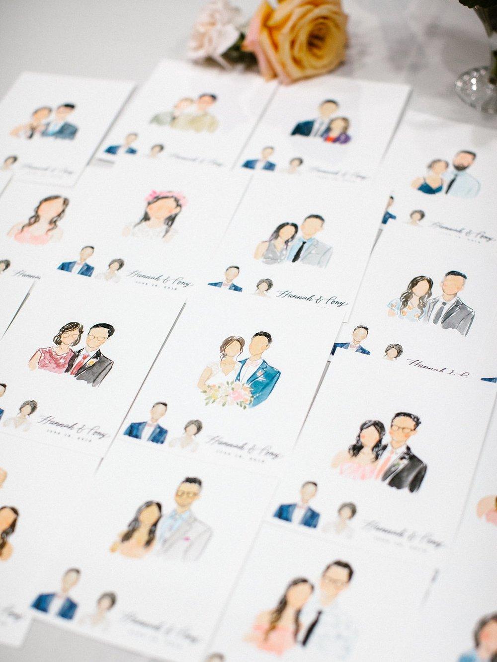 live+art+watercolor+portrait+at+wedding