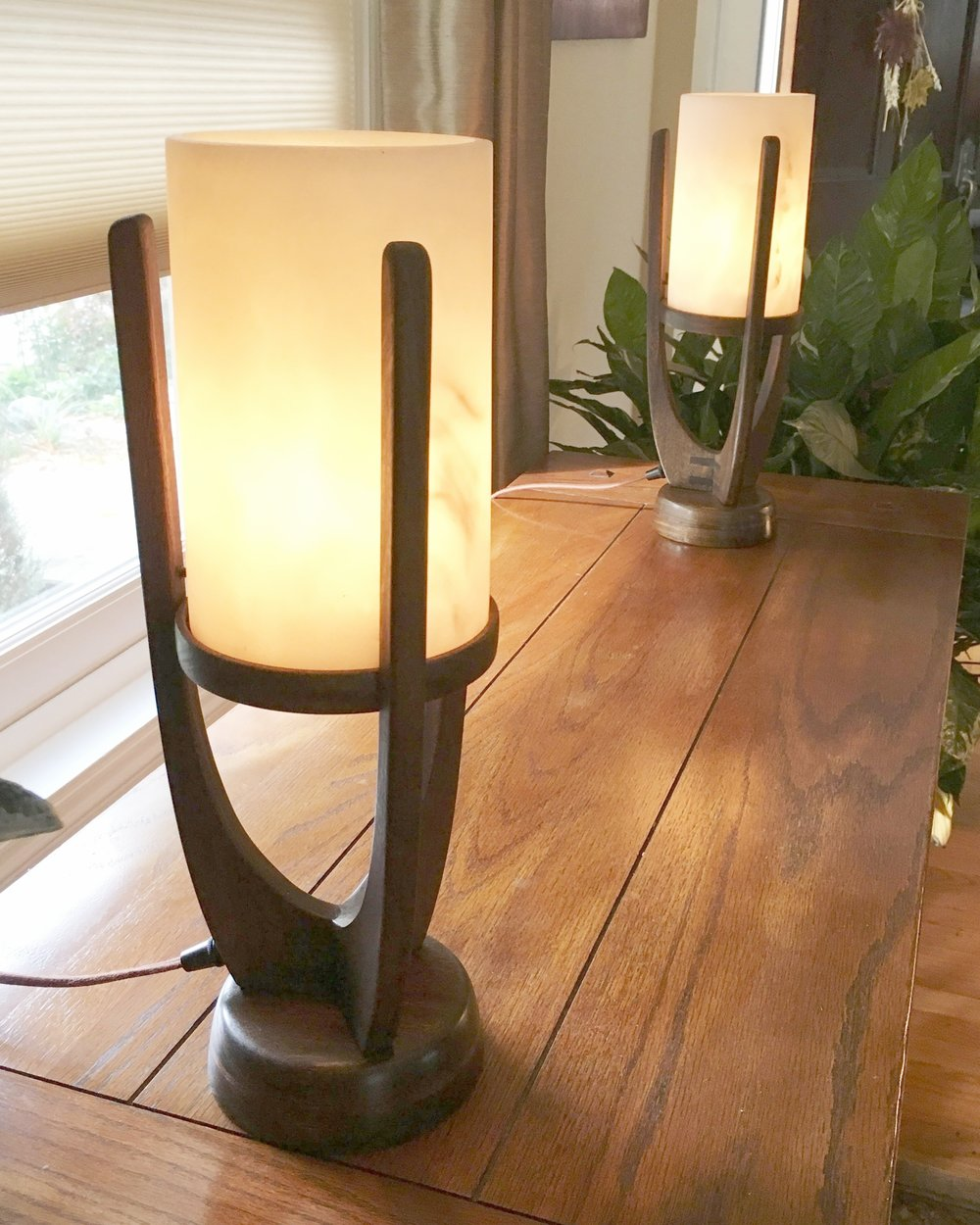 Custom Handcrafted Mid-Century Table Lamps