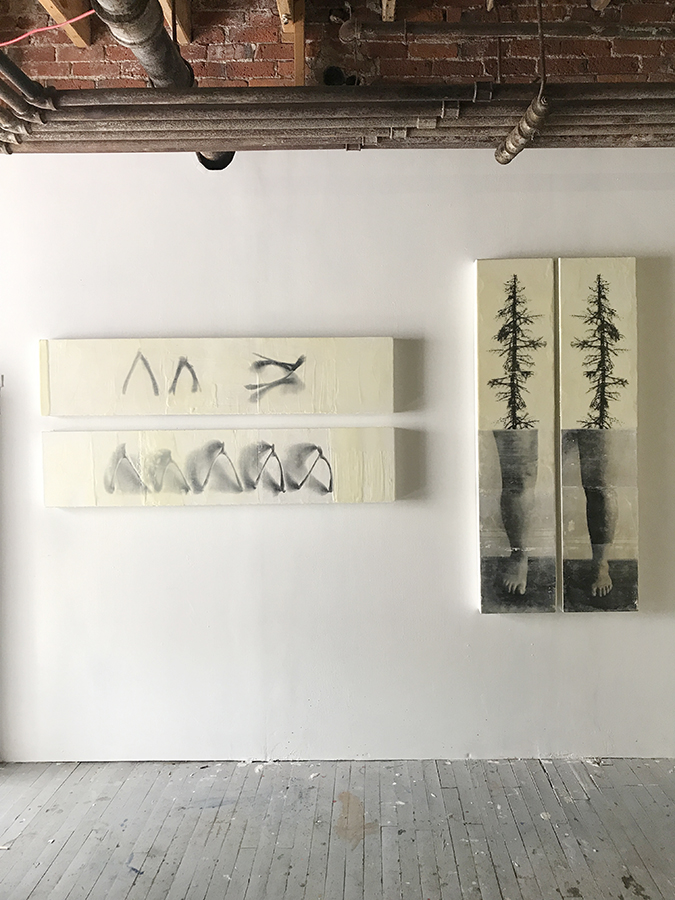 Installation view in studio