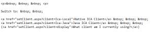 setClient Code