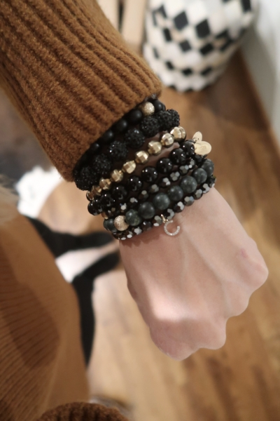 stacked collection bracelets