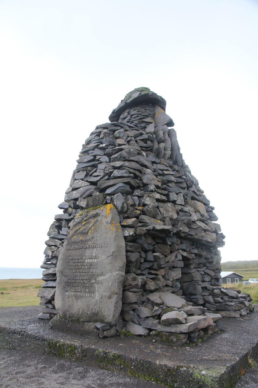 Rock Statue in Arnarstapi.