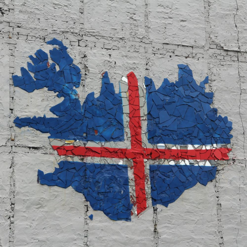 Icelandic Flag...Street Art in Rékjavik