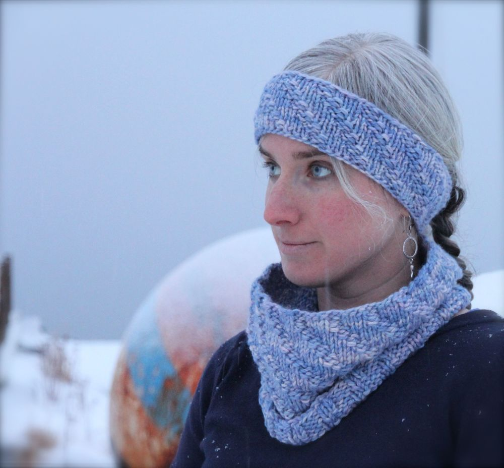Winter's Light Headband & Cowl