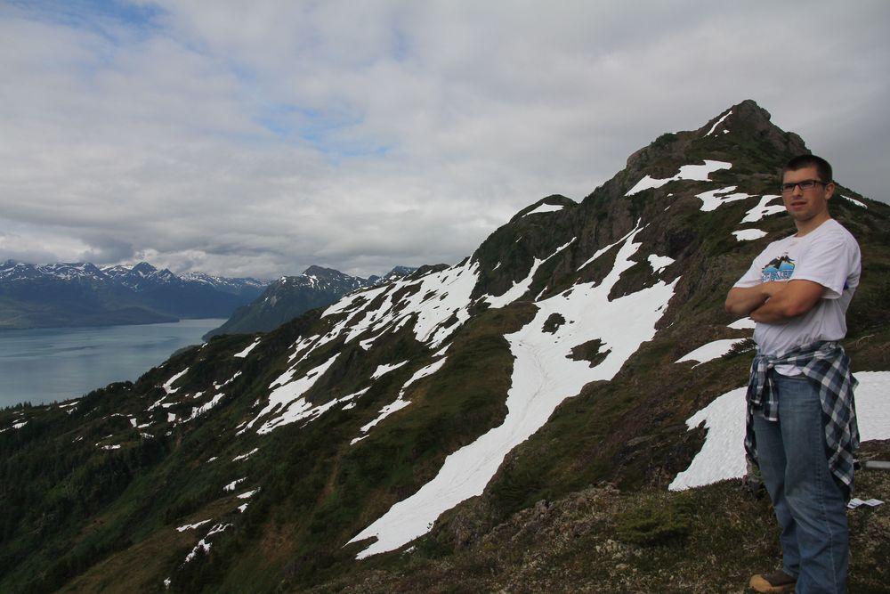 Warren on the Ridge of Mt Eyak