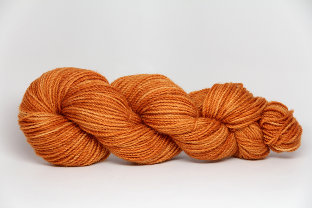 An Alpine Autumn on 8ply Corriedale